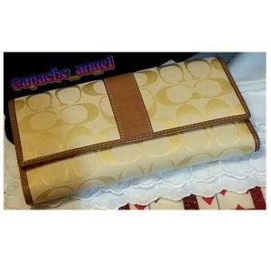 Rare Vtg Coach Lemon Yellow Wallet NWT